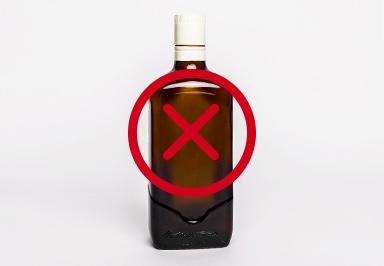 glass spirit bottles are not refundable