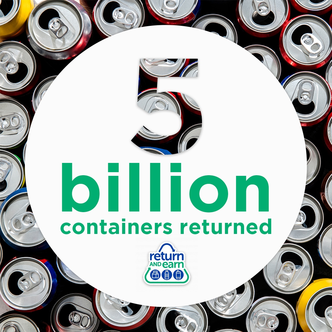 Return and Earn 5 billion containers